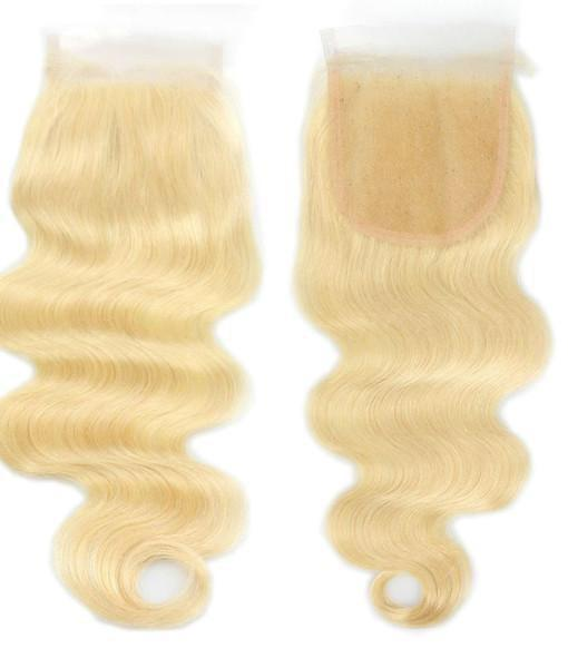 613 blonde body wave lace closures