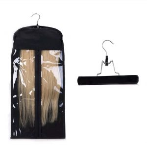 hair extensions storage and travel bag