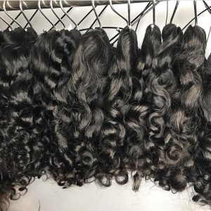 raw natural curly human hair