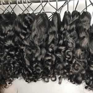 raw natural curly human hair