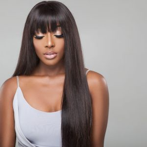 long straight human hair wig